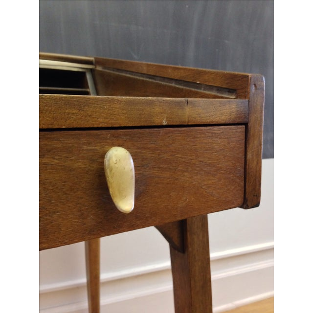 Drexel John Van Koert Roll Top Desk & Chair - Image 8 of 9