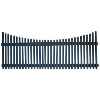 Rustic Cornflower Blue Farm Fence