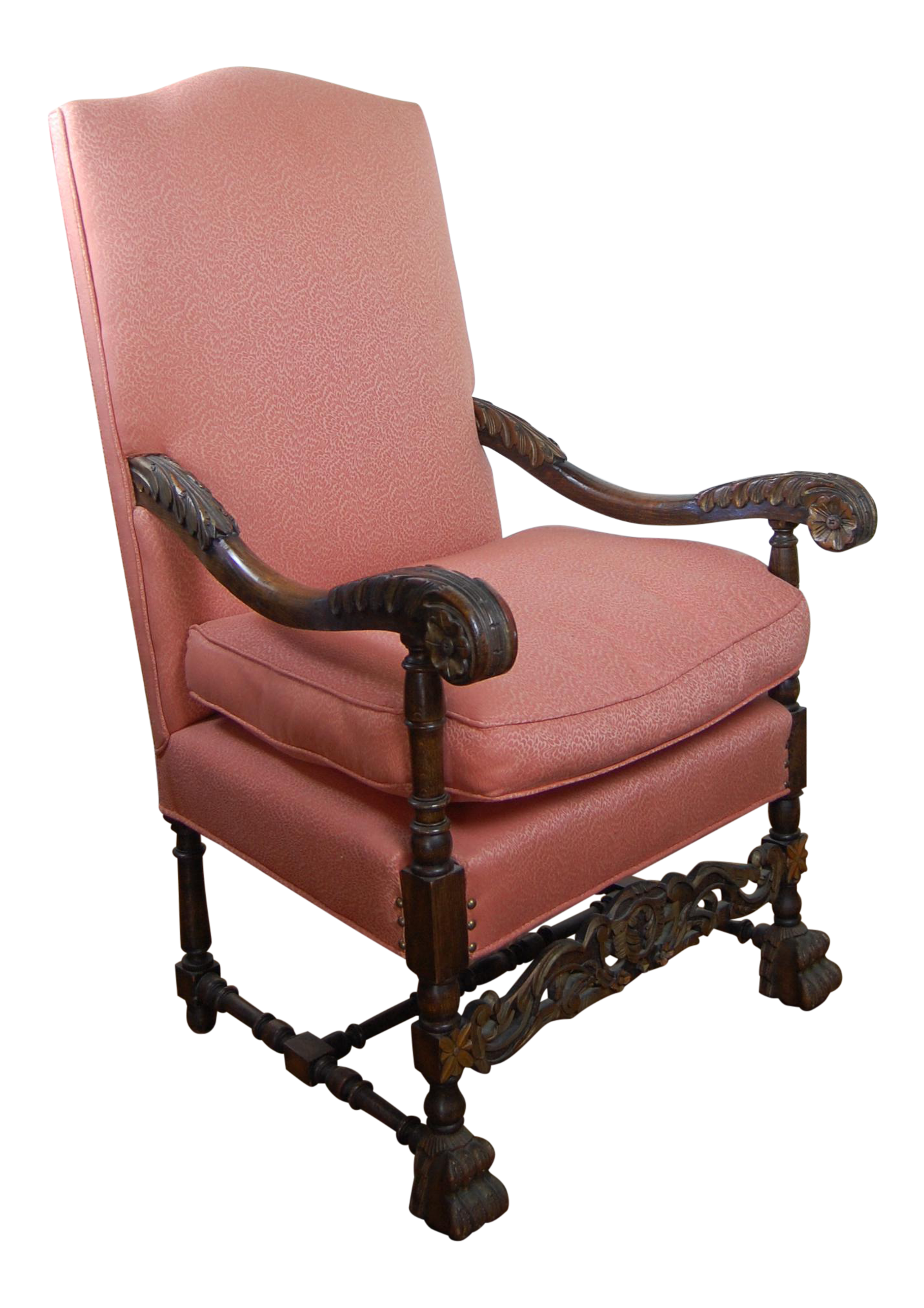 Majestic Spanish Arm Chair With Hand Carved Detail