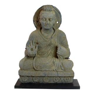 Gandhara Schist Sculpture of the Seated Buddha