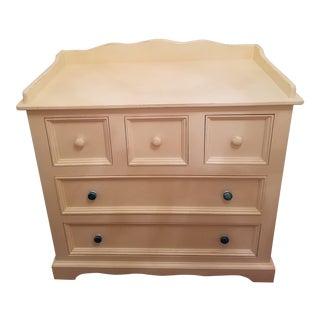 Distressed Antique White Vintage Changing Table Dresser