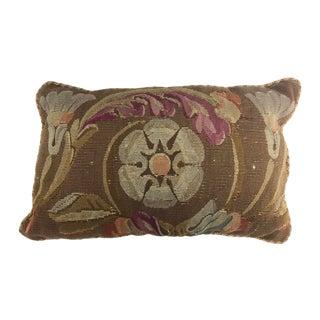 Aubusson Style Floral Pillow