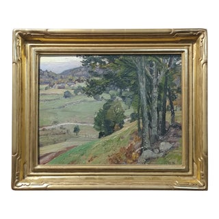 George Gardner Symons-A View down to the Farm-Oil painting-Important Impressionist