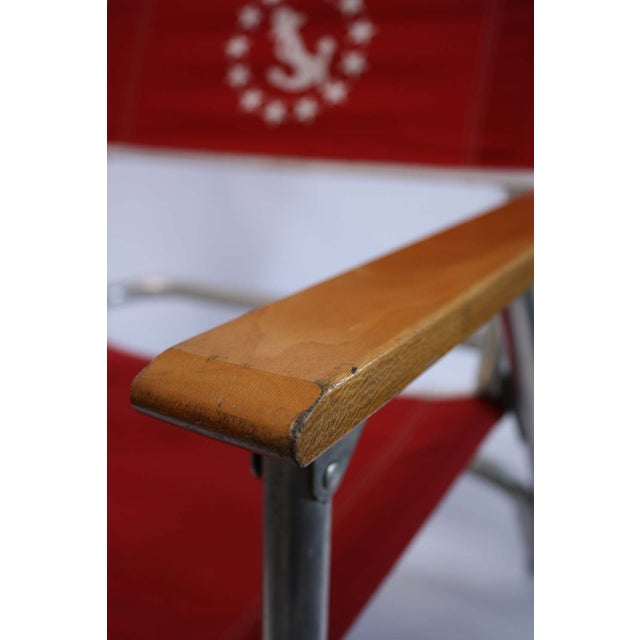 Vintage Nautical Crew Deck Chair - Image 4 of 8