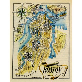 Vintage 1946 Boston Pictorial Map
