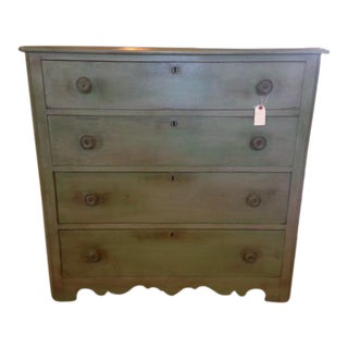 Rustic Vintage Turquoise Chest