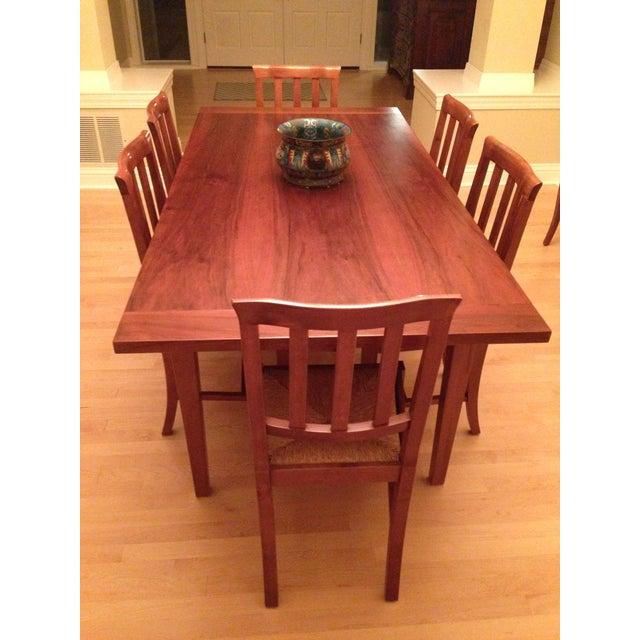 Italian Custom Chestnut Dining Set - Image 8 of 10