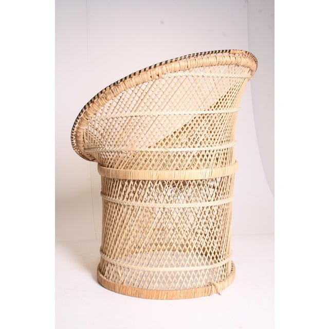 Vintage Boho Chic Wicker Pod Chair - Image 5 of 11