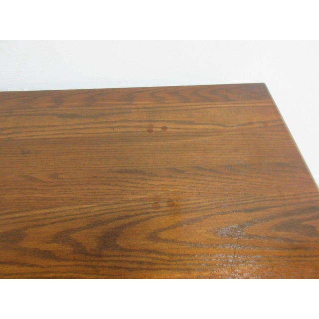 Ethan Allen Royal Charter Jacobean Carved Writing Office Desk - Image 6 of 8