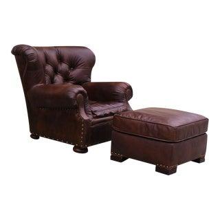 Restoration Hardware Churchill Chair & Ottoman