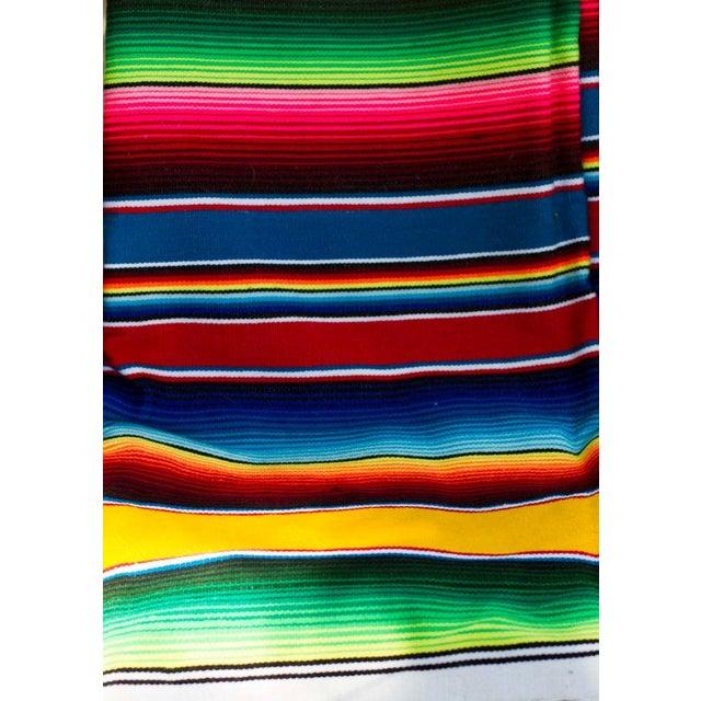 "Southwestern Striped Blanket Rug - 4'11"" X 7' - Image 5 of 5"