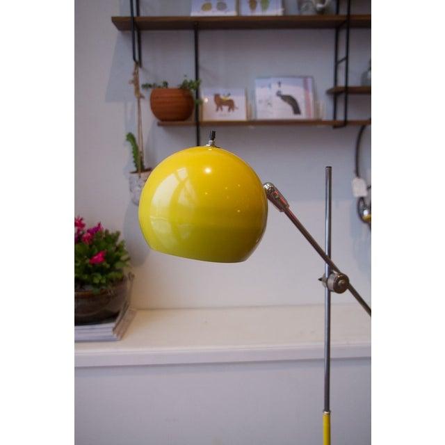 George Kovacs Bright Yellow & Chrome Floor Lamp - Image 5 of 5
