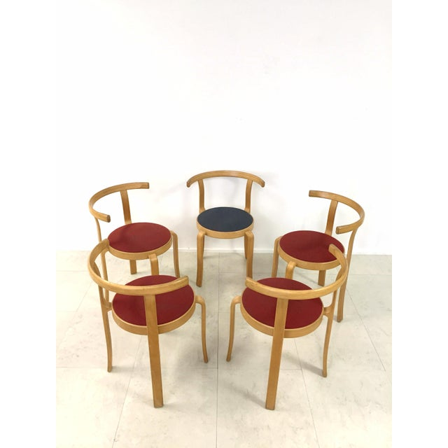 Danish Magnus Olesen Stacking Chairs - Set of 5 - Image 3 of 8