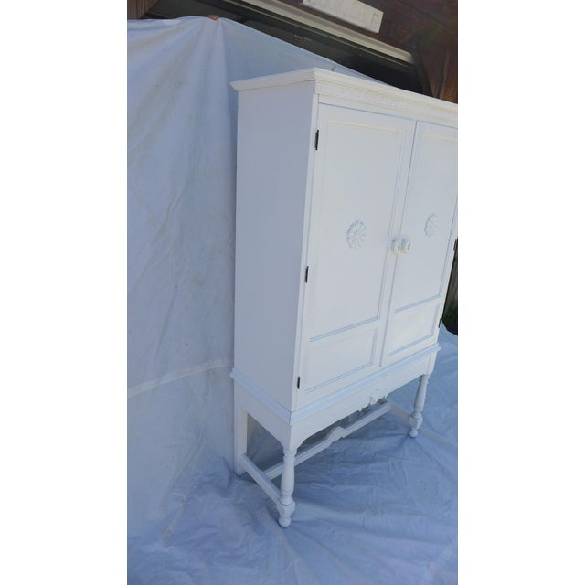Antique White Painted Cabinet - Image 5 of 8