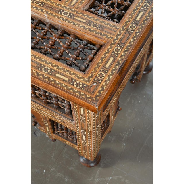 Antique Hand Made Inlaid Syrian Coffee Table