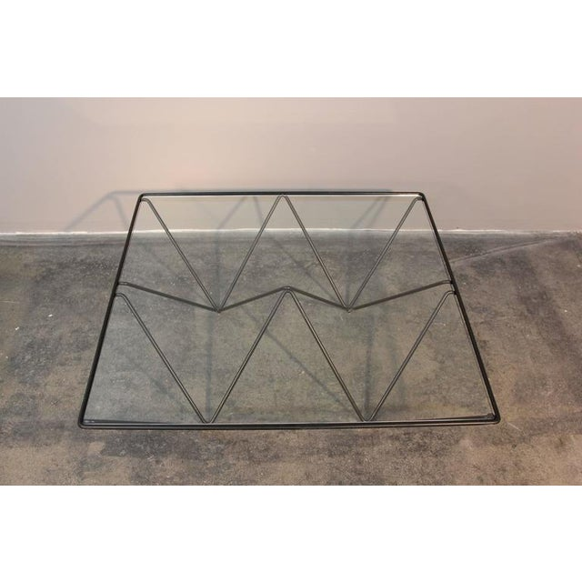 Geometric Brass & Glass Coffee Table