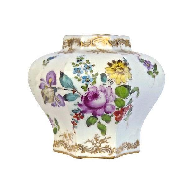 Antique Meissen Floral Lidded Jar - Image 4 of 7