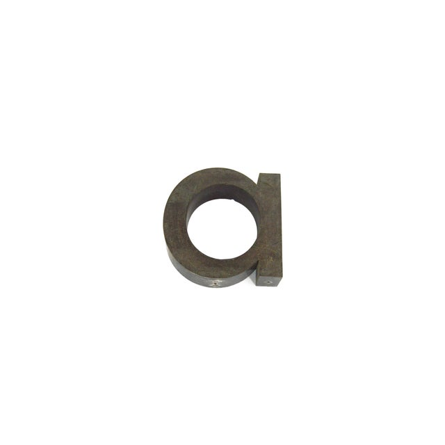 Image of Letter a Vintage Metal Store Sign