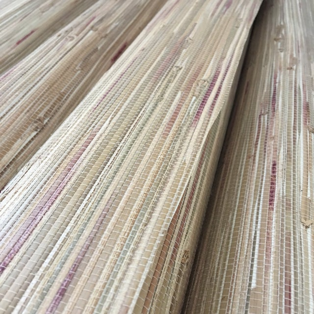 Tan Grasscloth Wallpaper - Set of 4 - Image 1 of 4