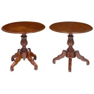 Antique Faux Louis Philippe Side Tables- A Pair