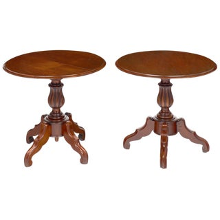 Antique Faux Louis Philippe Side Tables- A Pair