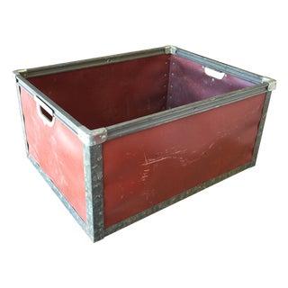 Burnt Orange Industrial Fibreboard Bin