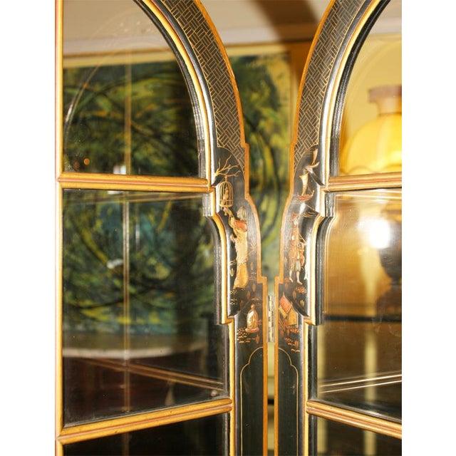 Jansen 3-Panel Chinoiserie Glass Screen - Image 5 of 9