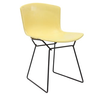 Knoll Bertoia Fiberglass Side Chair Yellow