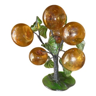 Hand Blown Glass Apple Tree Sculpture