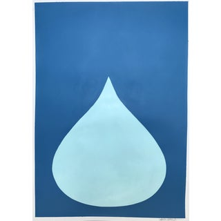 "Stephanie Henderson ""Fat Drop of Cool Blue on French Blue"" Painting"