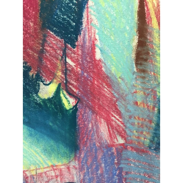 Image of Pastel Abstract Figures in a Line Drawing