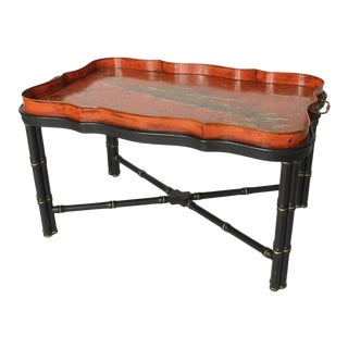 Italian Tole Tray Cocktail Table