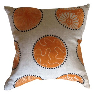 Orange & Black Felt Pillows - A Pair