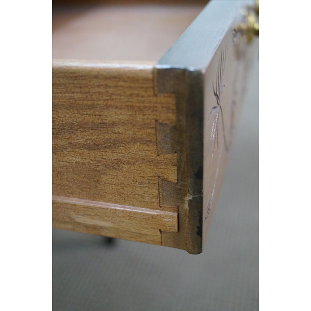 Kittinger Thistle Faux Bamboo End Tables - Pair - Image 5 of 10