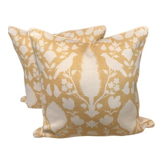 Schumacher Chenonceau Linen Pillows - A Pair