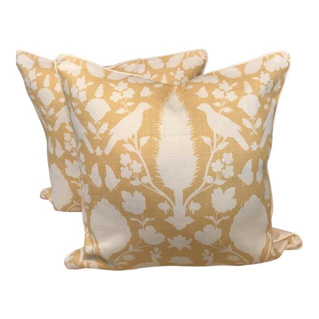 Schumacher Chenonceau Linen Pillows - A Pair - Image 1 of 7