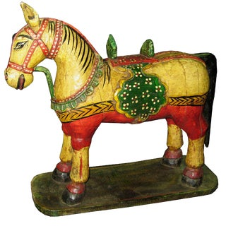 Vintage Painted Indian Horse