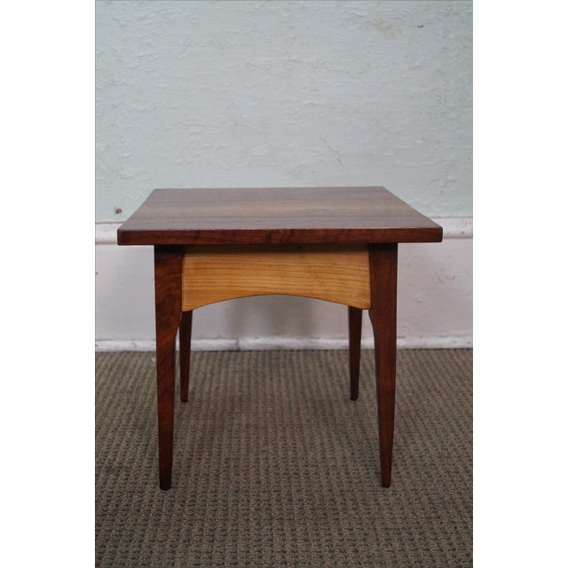 Hand-Crafted Solid Walnut Side Table - Image 2 of 10