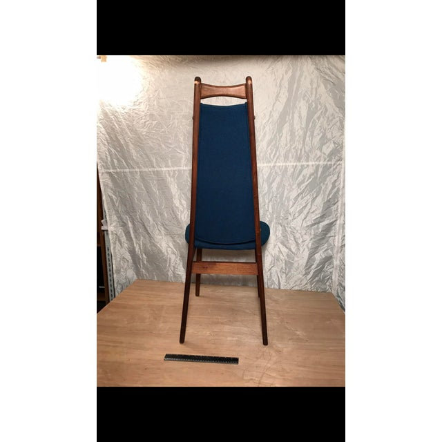 Mid-Century Blue Dining Chair - Image 4 of 6