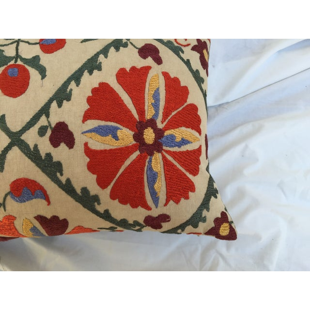 Antique Embroidered Turkish Suzani Pillow - Image 7 of 7