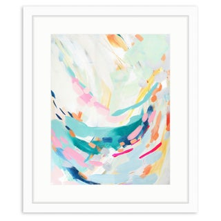 Swoop Pastel Abstract Framed Art Print