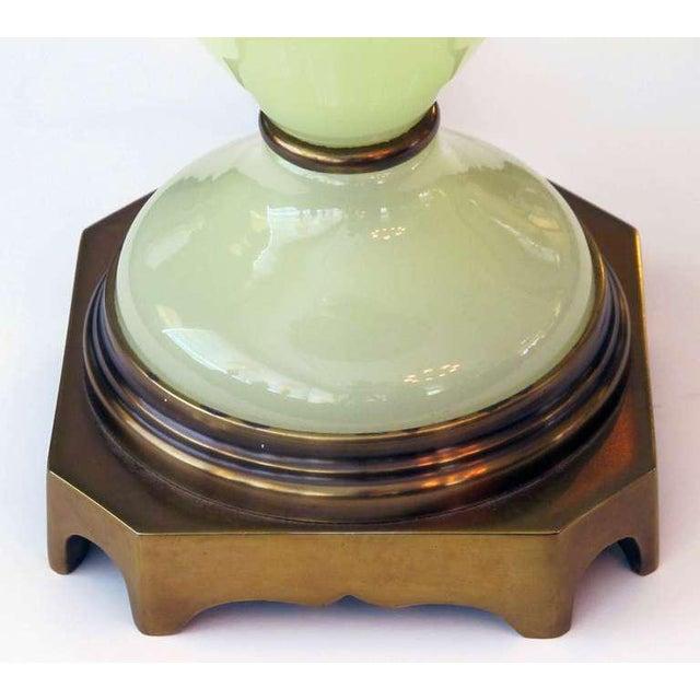 Vintage Paul Hanson Opaline Glass Lamps - a Pair - Image 4 of 5