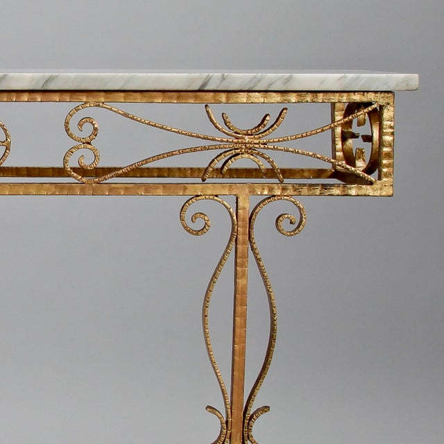 Spanish Wall Hung Console with Gilt Metal and Marble Top - Image 6 of 8