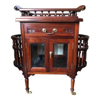 Jacobean Style Mahogany Bar Cart