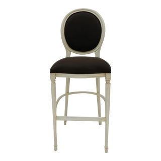 Sarreid LTD Louis XVI Style Round Back Bar Stool
