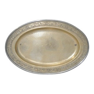 Hammered Platter w/ Embossed Edge c.1920s