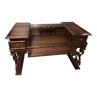Marge Carson Wood & Wrought Iron Desk