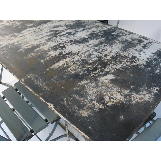 Antique French Bistro Dining Set - Image 3 of 8