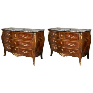 Antique Marble Top Commodes - A Pair