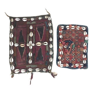 Vintage Banjara Galla Textiles With Cowrie Shells - Pair